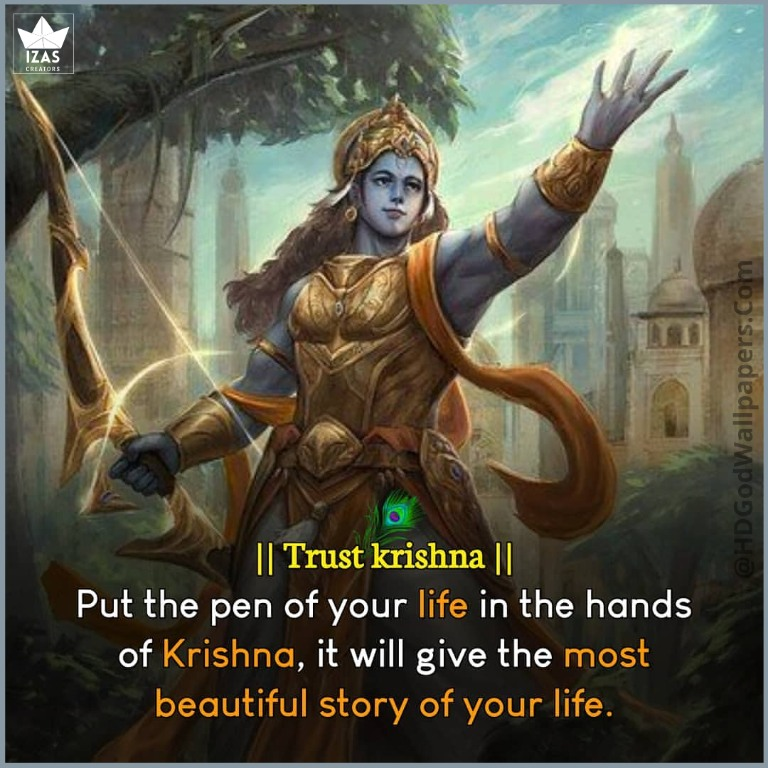 little krishna quotes in English on life