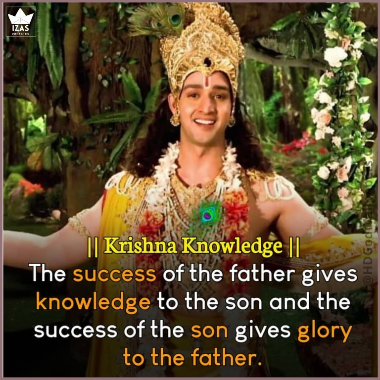 quotes about father son relationship by shree Krishna in english